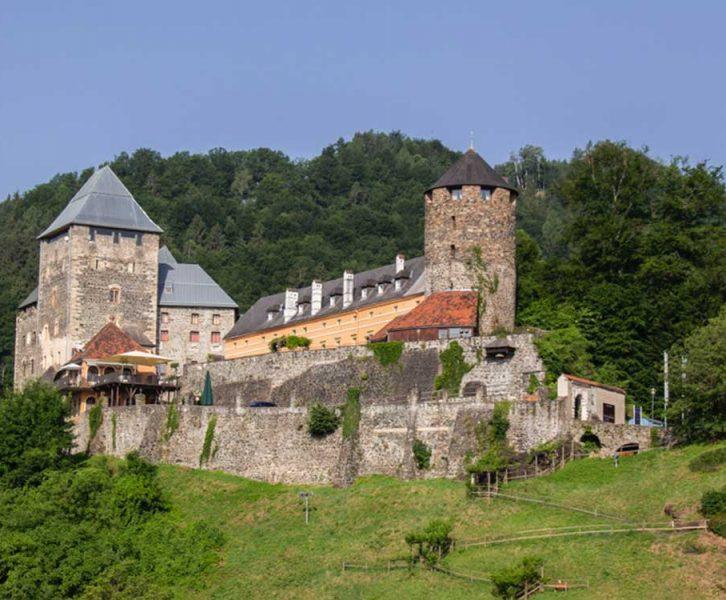 Panorama der Burg Deutschlandsberg (© S. Kiegerl)