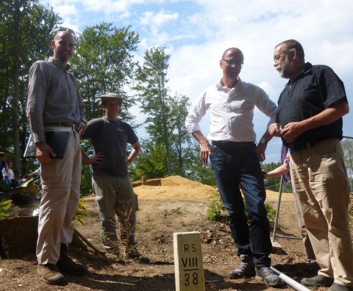 Archäologische Ausgrabung auf dem Bubenberg bei Spielfeld unmittelbar an der österreichisch-slowenischen Grenze. © UMJ