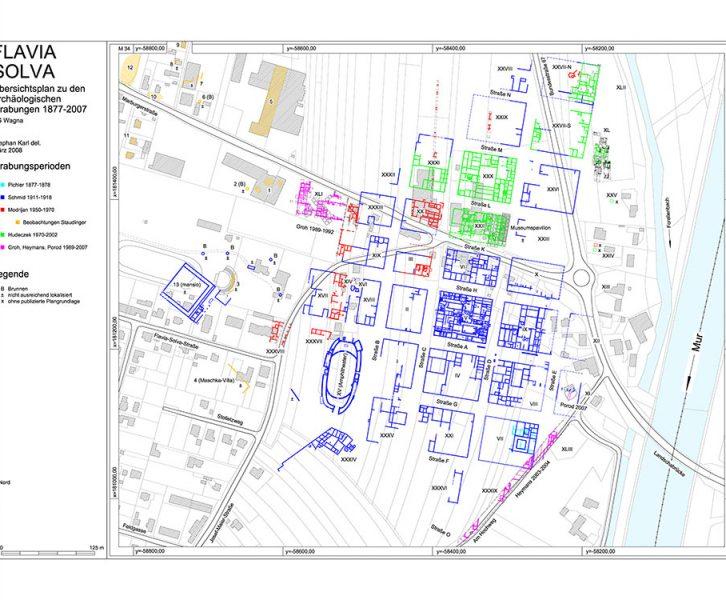 Plan des municipium Flavia Solva. (© UMJ, St. Karl)