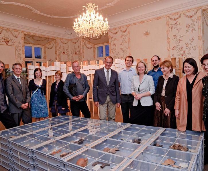 """Eröffnung der Ausstellung """"Ans Licht gebracht"""" am 3. Mai 2011 in Schloss Betnava in Maribor. © UMJ/N. Lackner."""